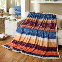Super Soft Thickening Sable Flocking Blanket  Casual Blanket Fluffy Bedding Mattress Versailles Mmpression