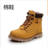Handmade Genuine leather warm fur plus size men winter shoes,full grain leather Super warm men winter shoes for Russian