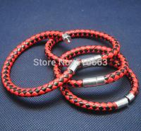 6 Pieces/Lot,New Imitation Leather Bracelet,Charms Jewelry Bracelet,Size: 19cm lenght 6cm diameters