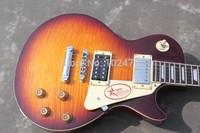 Classic standard LP Super eye-catching Jimmy Page signature Pentagram baffle  model Electric Guitar