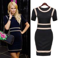 S-XXL Plus Size 2014 New vintage Style Bodycon Dress Celebrity Casual vestidos Elegant Dress A386