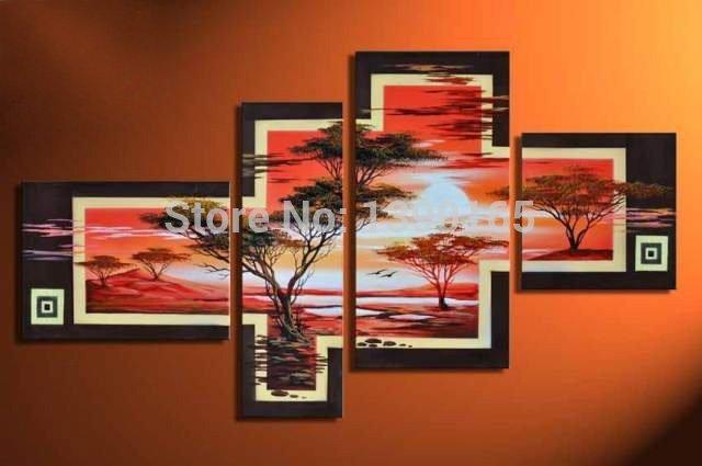 Pintura al leo de girasol compra lotes baratos de for Sala girasol