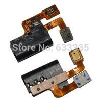 Ear Earphone Audio Jack Port connector Flex cable For Huawei Ascend P6 P6-U06 P6-C00 P6-T00 P6-U00 with mic microphone free ship