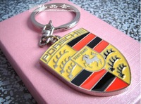 2pcs/lot free shipping unique car brand logo keychain for men and women/ auto key rings