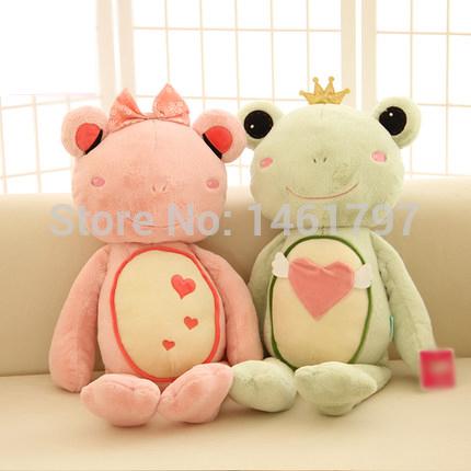 Frog Prince wedding gift plush toys children's toys wedding dolls baby toys for Christmas Free shipping(China (Mainland))