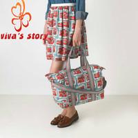 2014 new cath travel shopper shoulder messenger bags women cotton handbag fold away holiday bag vintage designer of famous brand