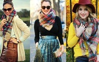 Women scarf, autumn,winter comfortable and nice plaid design scarves, shawl, good match scarf
