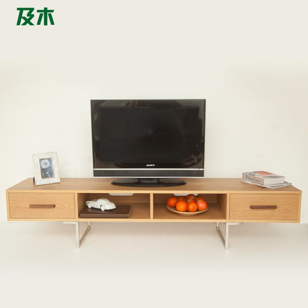 En houten meubilair moderne minimalistische scandinavische creatief ontwerp wit eiken zwarte - Meubilair tv industrie ...