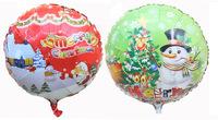 2 designs Merry Christmas snowman balloons christmas decoration christmas balloons free shipping