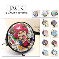 Free delivery of 2014 new female girl college style messenger bag hot round cartoon printing quality small messenger bag