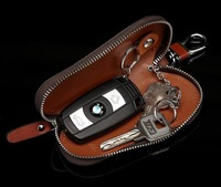 Men's Wallets Men's West cattle leather zipper large capacity car key cases key cases