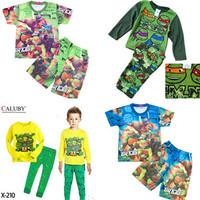 New 2014 baby boys girls Winter Warm Mutant Ninja Turtles Pajamas sleepwear cartoon suits costumes children kids 1 Set / lot