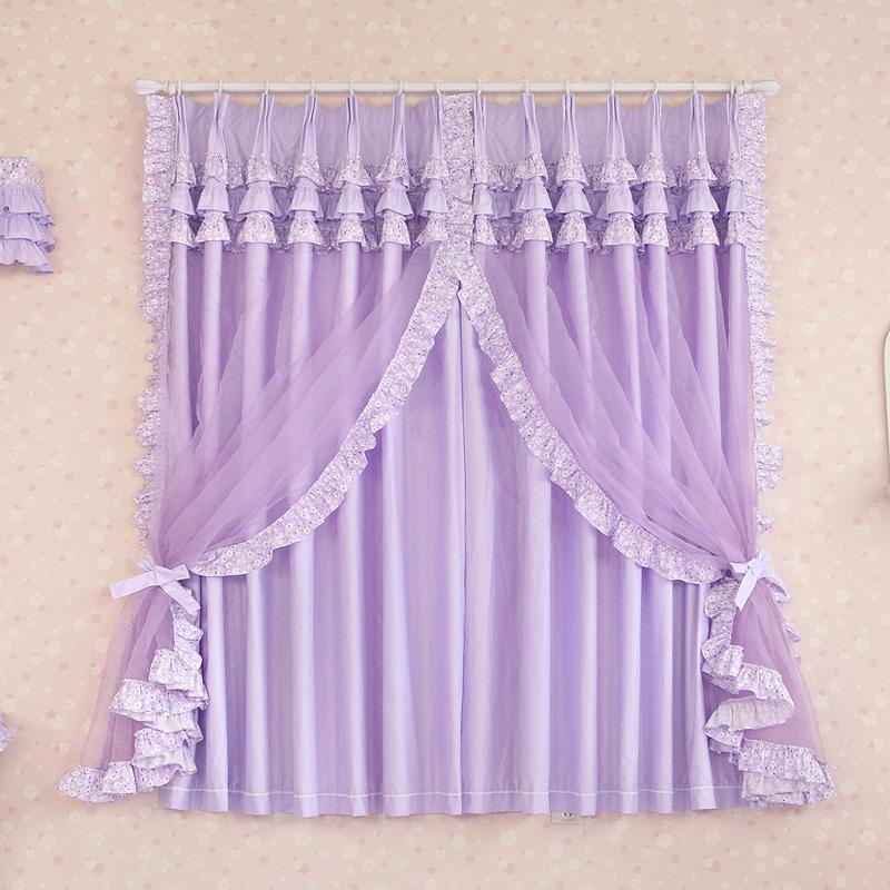 Lace curtains living room - Compra Ni 241 As Cortinas Moradas Online Al Por Mayor De China