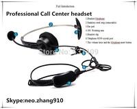 Super low cost free shipping call center headset,earphone, headphone,for training center,RJ09 interface,Cisco,Avaya etc