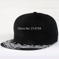 Hip Hop Baseball Flat Bill Hats Caps Snapback Hip-Hop Adjustable Canvas Cap Hat 017