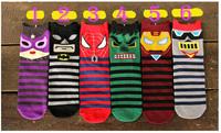 Crazsox fashion colorful spidermen warm socks women cotton socks casual character boot socks