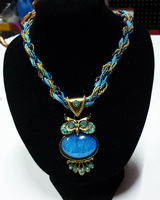 New Popular Fashion Bohemia Style Resins Big Owl Necklaces Statement Jewelry Perfect Match For Dress Christma Gift