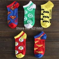 free shipping 35--42size 40pcs=20pairs=1 lot sock slippers America salvation hero series cartoon socks special Avengers Superman
