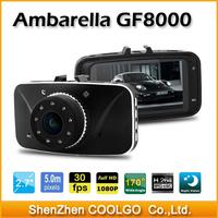 "Car DVR GF8000 Ambarella A5S50 Full HD 1080P 2.7""LCD 170 Degree with G-sensor H.264 Vehicle Camera Video Recorder Dash Cam"