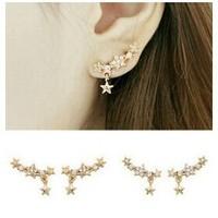 fashion earrings 2014 Shining full bore little star earrings E70