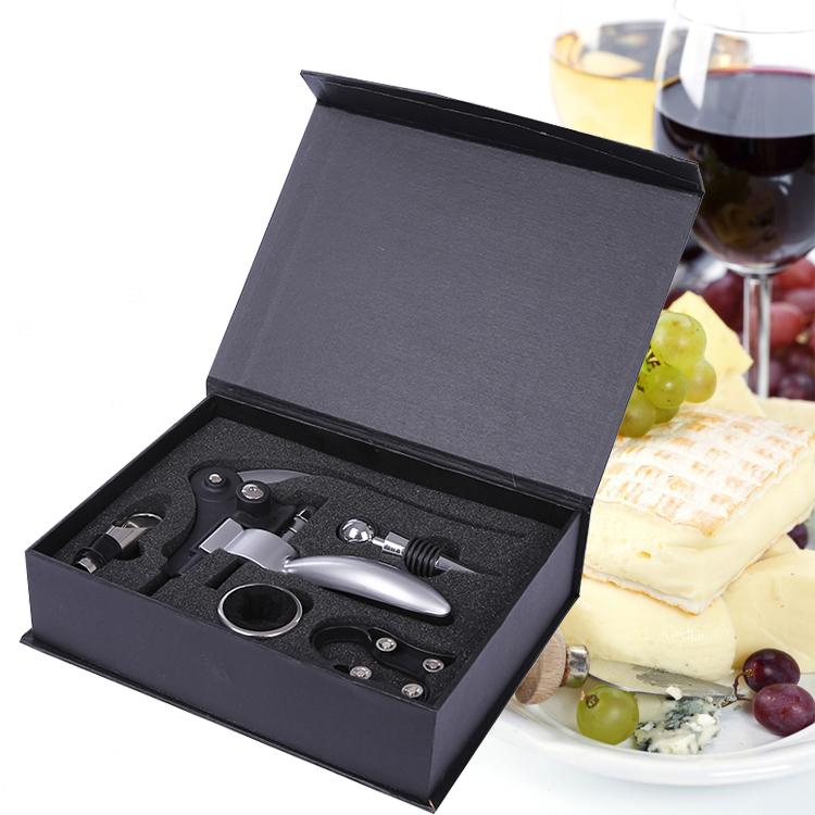 Wine corkscrew set bottle opener gift box Black Box Wine Set(China (Mainland))