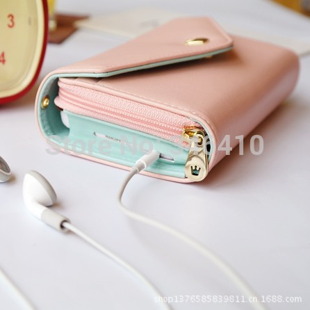 Women's Fashion Lovely Crown Smart Pouch Phone Bags for iphone 4 4s 4g 5 5s 5g for Samsung Galaxy S3 S4 S5 Wallet(China (Mainland))