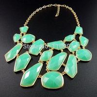 Pink Amazing Classic Big Bib Chunky Choker Ethnic Bohemian Bead Chain Statement Necklaces Jewelry Set For Women