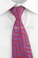 High Quality Men Narrow Necktie Neck Tie Zipper Zip Up Checkered 20