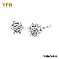 GNE0062-B Free Shipping Genuine 925 Sterling Silver Arrows Earrings 5*5mm Fashion Women Jewelry AAA+ Cubic Zircon Stud Earrings