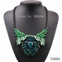 fashion 2014 new design model black chain resin cheap price statement pendant necklace for ladies elegant party choker jewelry