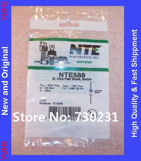produto Free Shipping 10 pcs NTE588 NTE ULTRA FAST SI SWITCHING DIODES 3A 200V ECG588 ROHS FREE SHIP
