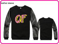 Stock Brand Odd Future Hot Sale Men Women Long Sleeve Hoodie Coat Hoodie Sports Wear Track Hoodie Sweatshirt With Leather Sleeve