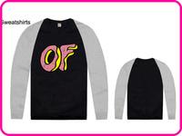 Stock Brand Odd Future Fashion Round Neck Black Gray Raglan Sleeve Knitwear Cheap Cotton Men's Casual Odd Future Sweatshirt-011