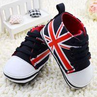 Hot sales Baby shoes Kids bebe First walker  Tenis infantil Sapato bebe Brand Newborn baby boys American flag  canvas
