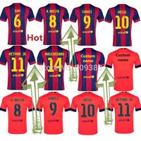2014-15 spain club hot team messi neymar jr iniesta xavi SUAREZ soccer jersey top thai quality custom name free shipping