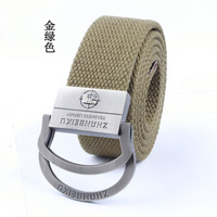 Bicyclic canvas belts male Korean version wild lengthened durable braided belt
