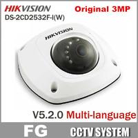 Free Shipping 3pcs/lot DS-2CD2532F-I(W),3MP Full HD 1080P POE Power Network IP66 Indoor Weather Proof IR Hikvision IP Camera