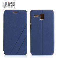 Elegant cell phones cases for meizu mx4 case leathr flip and 2pcs screen protector for meizu mx 4 mobile phone black blue