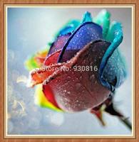 cross-stitch needlework Diamond paste DIY diamond painting Colorful roses