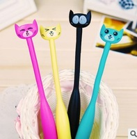 Free shipping 8pcs/lot Animal Cat  ballpoint pen, Fun ballpoint pen gestures, very cute and sweet gifts for children's