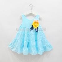 New 2014 Children Clothing Girls' Dresses Cotton Baby Girls Dress Cute Summer Dress Kids Sleeveless one-piece