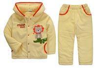 Girl's Winter Clothing Set Thick Warm Polar Fleece Hooded Sets, 6 Sizes/lot, 1-5 yrs - JBPS01/JBPS02/JBPS03/JBPS06/JBPS07/JBPS10