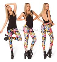free shipping free size woman female printed  Leggings elastic Lycra& spandex woman pants trousers