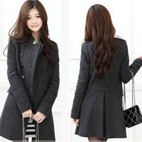 2014  women's winter long coat Slim woolen coat thickening style