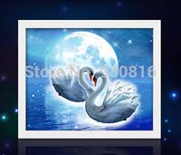 cross-stitch Diamond embroidery  5D  resin square DIY diamond painting Swan of love