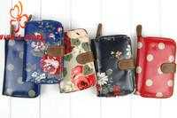 2014 new cath women folder zip short  light wallets purses holder cotton waterproof cover vintage designer with famous brand