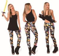 free shipping free size woman female printed pants trousers  Leggings