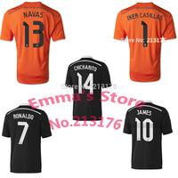 2015 Real Madrid soccer Jersey Black Orange Dragon RONALDO JAMES CHICHARITO I.CASILLAS 14 15 Real Madrid Champions League Jersey
