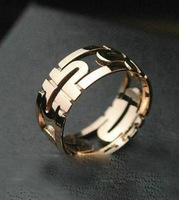 Classic titanium steel couple rings perfectly shaped hollow back free shipping
