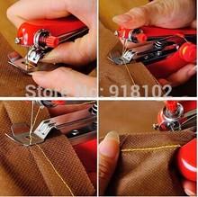 Hot Selling Useful Portable needlework Cordless Mini Hand-Held Clothes Fabrics Sewing Machine(China (Mainland))